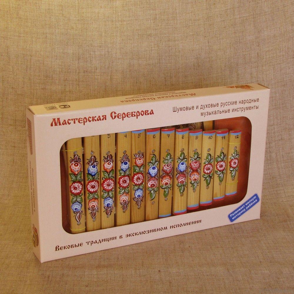 Ксилофон диатонический (12 пластин) с росписью