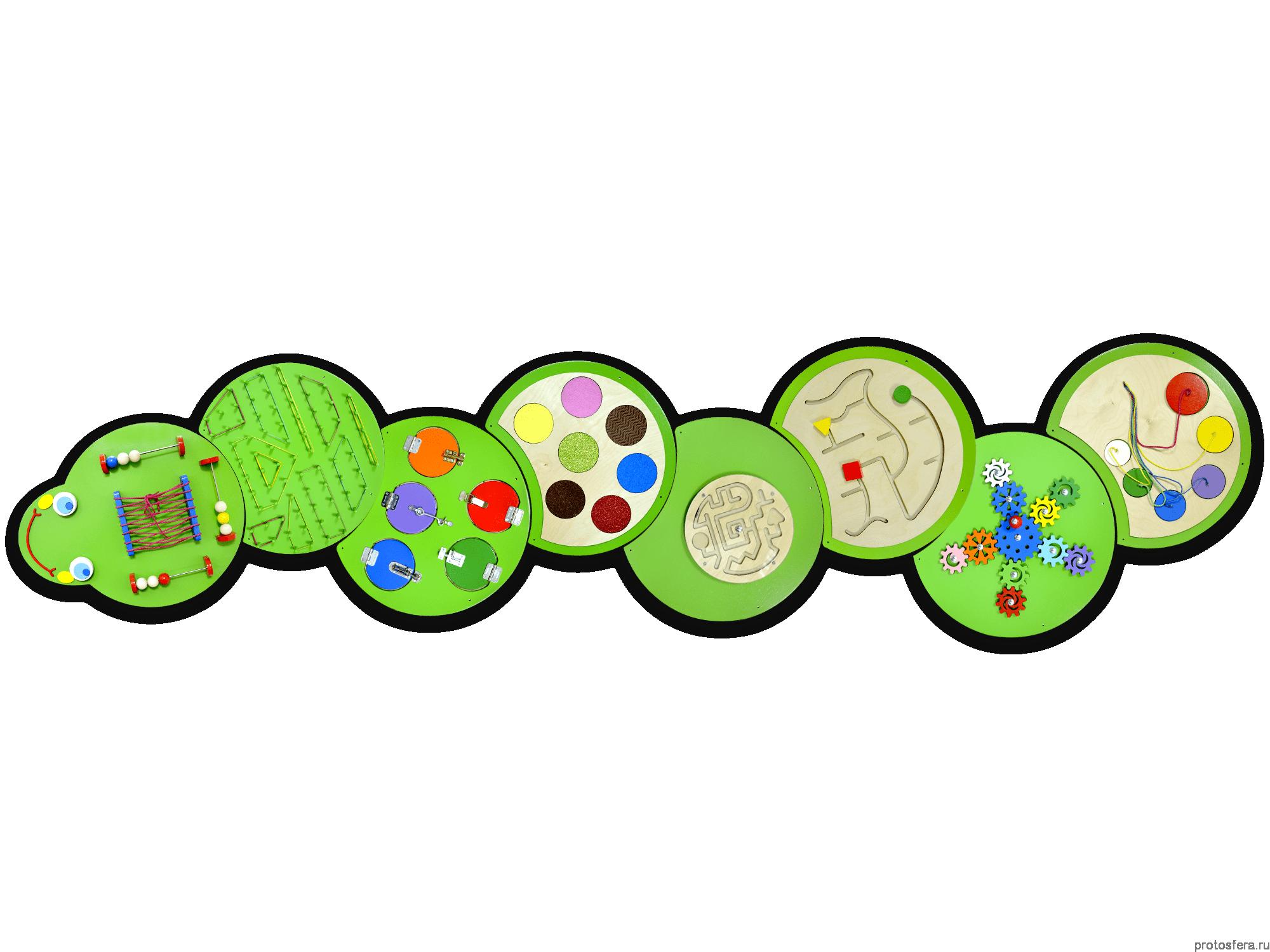 Тактильно- развивающая панель «Гунесеница Жужа»