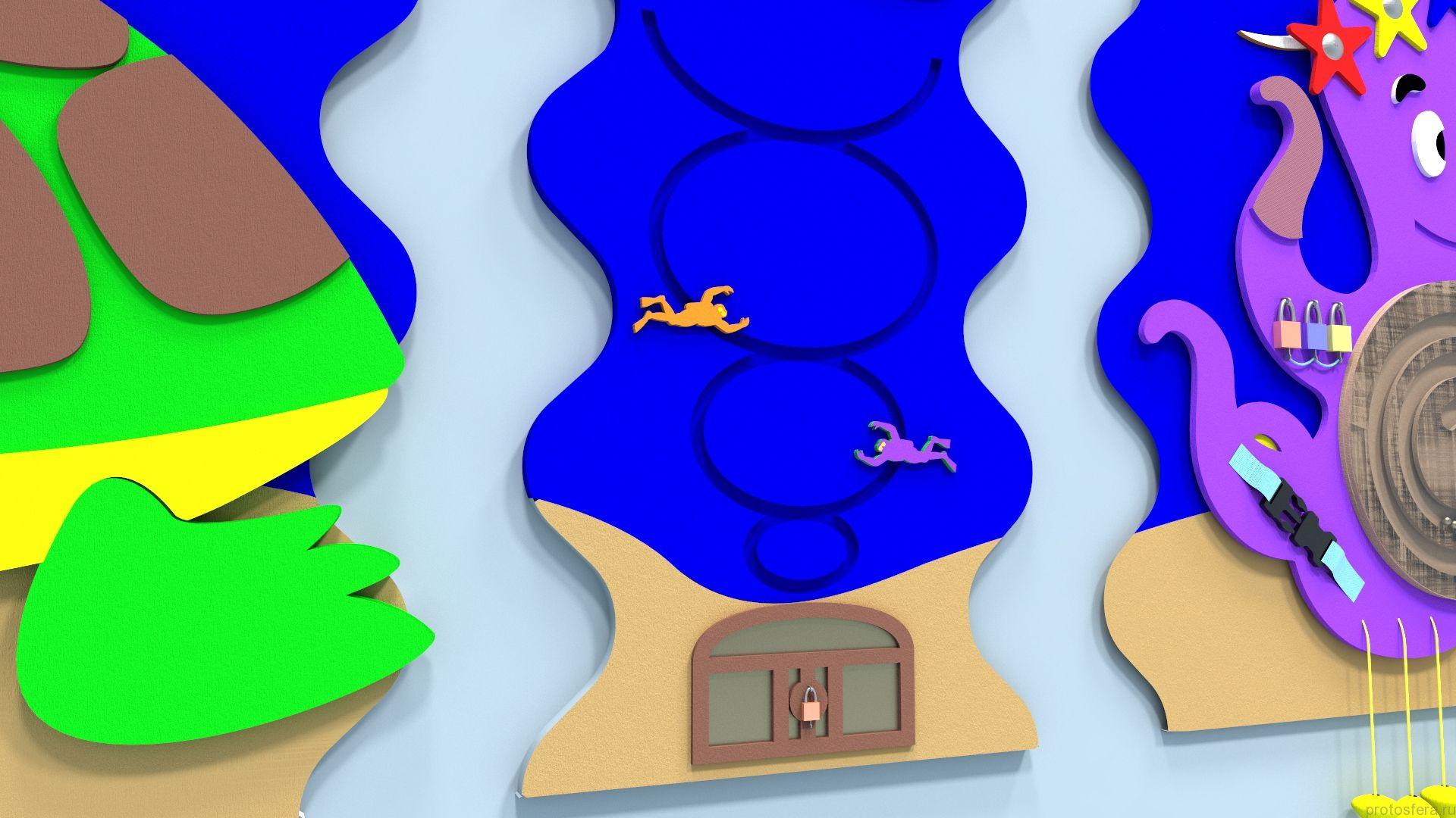 Панель морских обитателей
