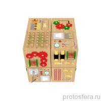 Набор кубиков- бизибордов «Мои друзья»